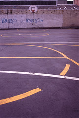 urban basketball (kickstock) Tags: game net sports field lines tarmac basketball sport court concrete painted pitch stockphoto stockimage