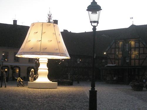 giant lamp.