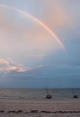 Rainbow and Boat at Vilanculos