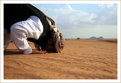 Muslim Praying In Desert by OsMaN_93