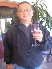Dad wine tasting