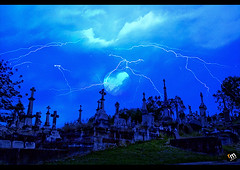 Darkness Falls ([ Rodelicious ]) Tags: longexposure travel color colour nature beautiful beauty cemetery night clouds photoshop canon landscape photography photo scary lowlight exposure photos australia eerie brisbane queensland nights lightning pk canoneos blend flickrmeetup rodel toowong thedarkside brisbanemeetup canon400d canonxti pinoykodakero pkchallenge rodelicious rodeljoselitomanabat