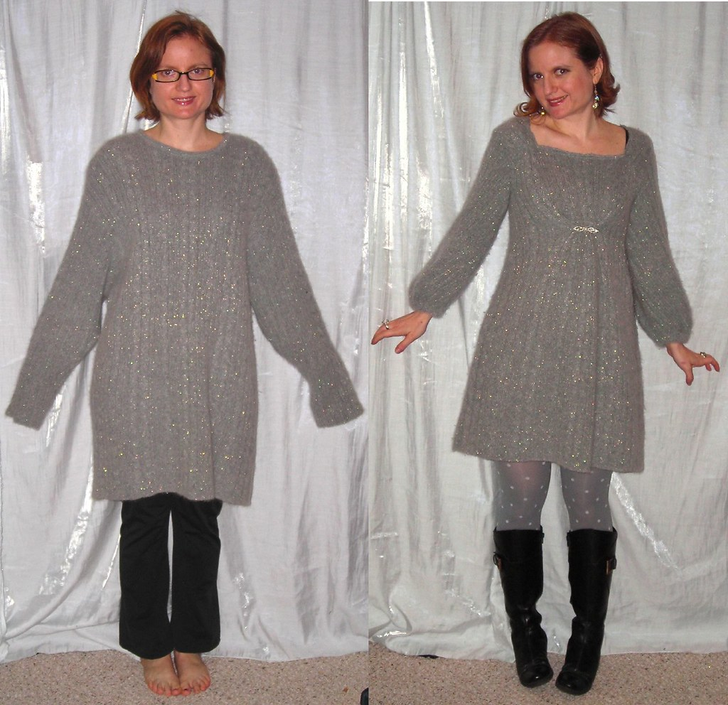 The Slapdash Sewist: Oversized Sweater to Sweaterdress