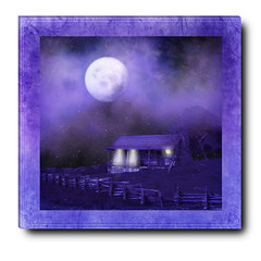 Moonlit Cabin ~(IAA-65)~ (Gravityx9) Tags: blue texture photoshop chop amer 0109 artphotography goldseal itsanaddiction pareeerica 011309 digitalartfx envyofpsphotoart amazingeyecatcher struckbyarainbow iaa65 mailexchangeart colorwizards pretentioussystem implulsivecreations