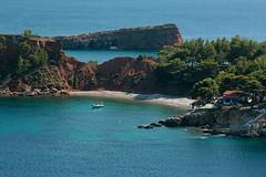 Kokkinokastro (splibra) Tags: blue summer seascape beach canon holidays greece magicmoments alonissos supershot kartpostal 400d canon400d 25135mm kokkinokastro