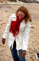 Rachel (taberandrew) Tags: winter red snow ny newyork beach scarf facebook easthampton rachelw suffolkcountyny facebook:aid=2257701 facebook:user=7801049