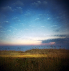 Like clouds and grass (Zeb Andrews) Tags: sky painterly beach grass oregon square landscape coast holga doubleexposure explore pacificocean pacificnorthwest pacificcity capekiwanda bluemooncamera zebandrews zebandrewsphotography