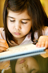 Reflection of Samea (Dean of Photography) Tags: reflection writing child drawing pfogold pfosilver herowinner