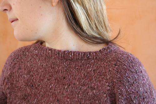Short rowed neckline