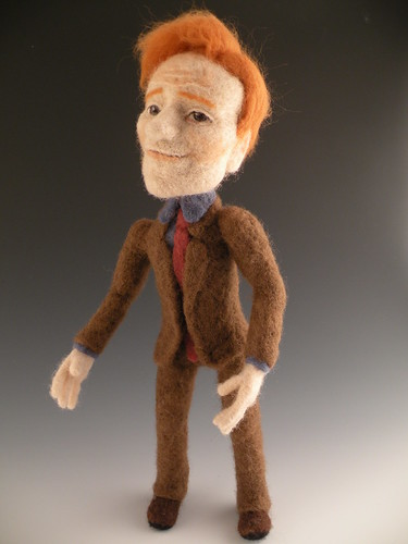 Needle Felted Conan O'Brien