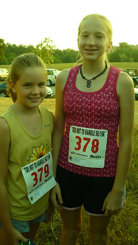 Hannah and Lauren run 5K