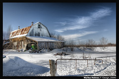Rustic Barn winter scene (f1design) Tags: county old winter snow ontario architecture barn farm ottawa country snowdrift rustic barns rusty bluesky farmland structure rusted weathered farms tinroof oldbarn winterscene ottawaontario f1design oldandbeautiful navanon carlsbadsprings navanontario