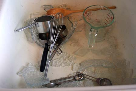 Shattered mixing bowl