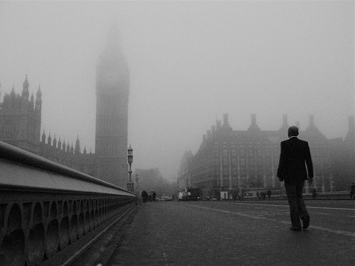 Mist on Westminster Bridge