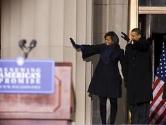 Barack and Michelle Obama (seannaber) Tags: park memorial war president baltimore stop express speech obama whistle inauguration barackobama barack biden