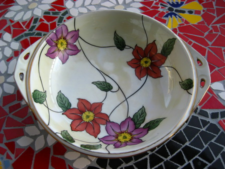 Noritake China Flower Bowl