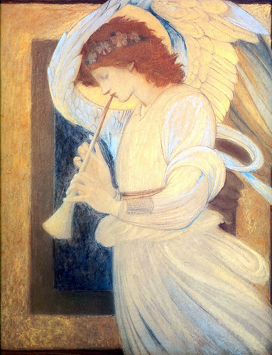 Burne-Jones, An Angel Playing a Flageolet, 1878
