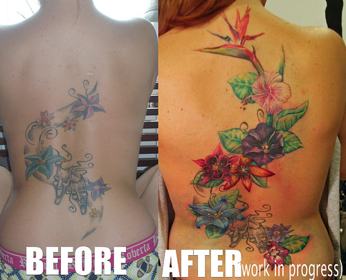 cover up- flowers tattoo by Mirek vel Stotker