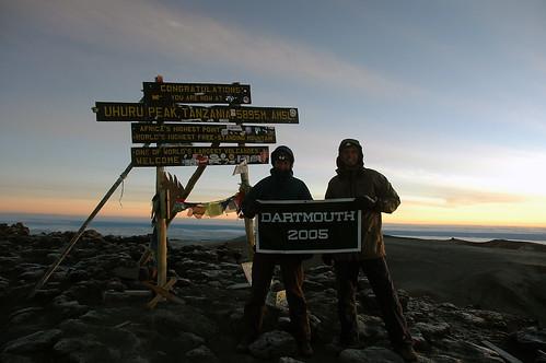 At the top of Kilimanjaro