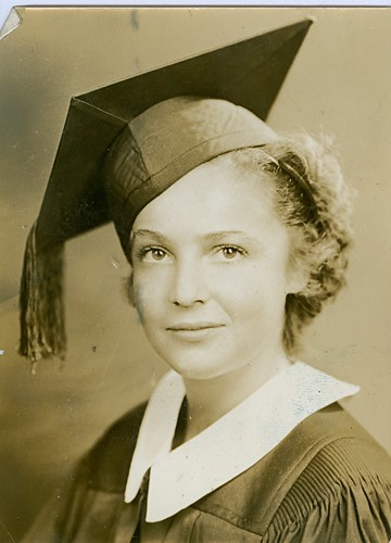Florence Kirschen (Otway) HS graduation 1935 (at 15 years old)