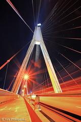 Anzac Bridge (-yury-) Tags: longexposure bridge night sydney australia nsw anzac