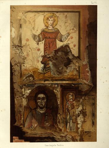 008- Imagenes en la cripta de Sta Cecilia-La Roma sotterranea cristiana - © Universitätsbibliothek Heidelberg
