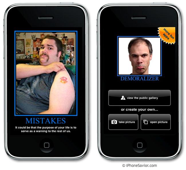 Demoralizer iPhone App