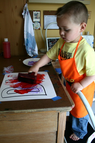 Caleb Painting in Art Space 1
