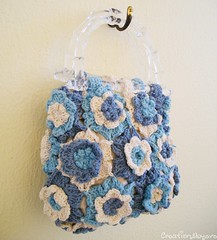 crochet flower motifs purse (7) (creationsbyeve) Tags: blue cute bag europe pretty handmade crafts small crochet greece homemade purse handcrafted etsy artisan crafting lightblue ecru flowermotifs handmadegifts handcraftedgifts crochetmotifs plastichandles creationsbyeve etsygreekteam