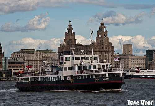 Mersey Ferry Snowdrop and Royal Liver Building