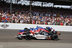 The front row (IndyCar Series) Tags: camera speed canon mark length mode rating eos1d ims indy500 indycar indianapolis500 651 indianapolismotorspeedway oriolservia alextagliani scottdixon 7110iso 5focal iiiexposure 250metering 1800fnumber