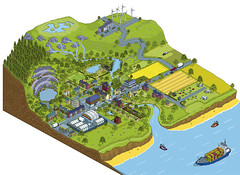 DEFRA Natural Environment White Paper - pressures on land illustration (Rod Hunt Illustration) Tags: city green art nature illustration landscape coast countryside town community vectorart village map illustrated country diversity diagram pixel pixelart land government coastline illustrator information vector communities sustainable sustainability infographics ecosystem biodiversity informationgraphics whitepaper ecosystems naturalenvironment defra vectorillustration ukgovernment landscapeillustration rodhunt greeneconomy greenillustration naturalenvironmentwhitepaper