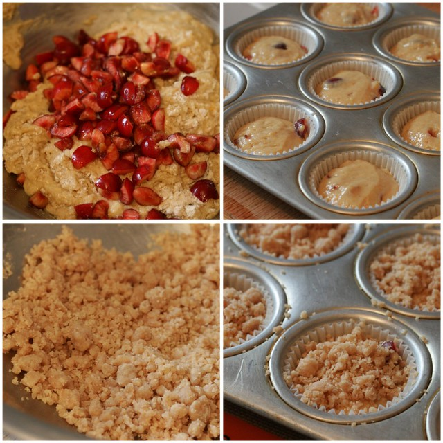 Cherry Orange Muffins collage 1