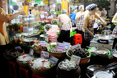 Night eateries outside Ben Thanh Market