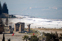Hierapolis, travertines, valley (korayatasoy) Tags: city turkey kent ancient top aegean valley amphitheater travertine ova pamukkale ege antik tiyatro denizli hierapolis tepe karahayt traverten amfitiyatro