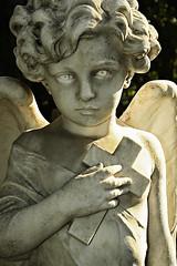 Angel kid (Zero86) Tags: italy rome roma cemetery graveyard statue angel kid eyes italia cross pyramid tomb occhi angelo statua tomba protestant croce piramide cimitero bambino ostiense acattolico fotografiaglobal