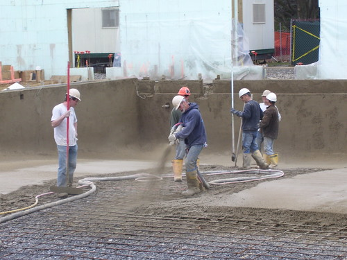the concrete pouring will be completed by this Thursday, March 20th