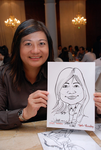caricature live sketching Singtel Radiance Communications Avaya 10