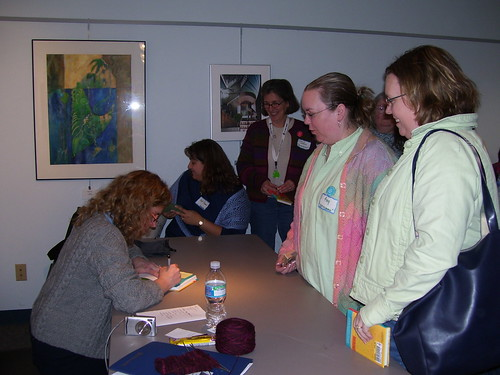 Getting Amy's book signed