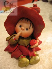 Collectible doll - Leafa (Red) (marytempesta) Tags: polymerclay ladybug polymer handmadecrafts collectabledoll
