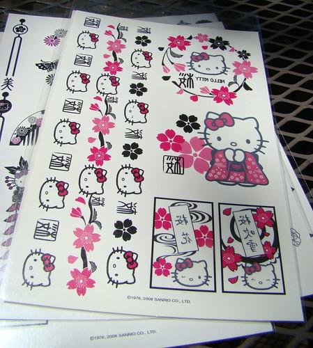 Hello Kitty body tattoos