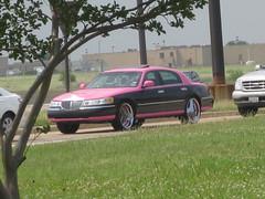 Welcome to Texas (Rachelskirts) Tags: pink black car pimp 2008 pimpmobile tayhoss