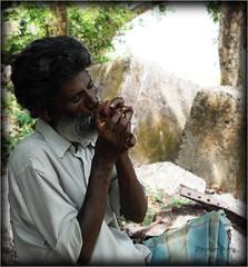dying on the edge of the pot (Dipanker Dutta) Tags: india man west cybershot pot edge dying kolkata bengal ganga ganges ghat princep theindiatree