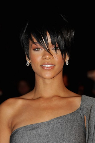 "rihanna hairstyle in take a bow. On the set of ""Take a Bow""."