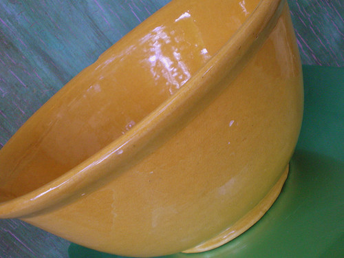 Vintage Yellow Ware Bowl