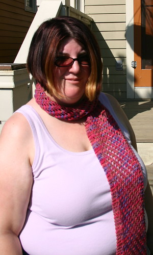 Diagonal Lace Scarf