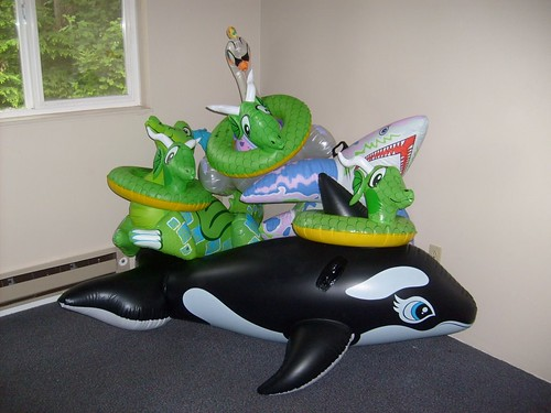 Small Inflatable Pool Toy Pile
