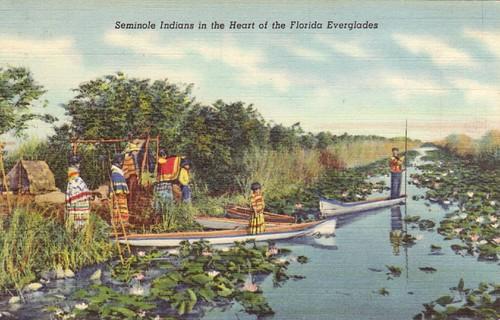 Séminoles dans les Everglades
