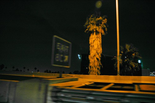Night time on the LA expressway
