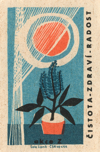 czechoslovakian matchbox label / Jane McDevitt